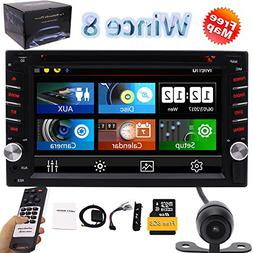 "6.2"" Double 2DIN in Dash Car Stereo CD DVD Player USB SD Blu"