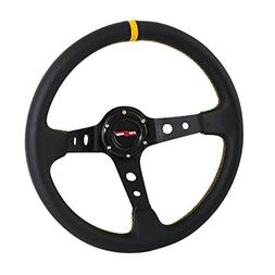 Rxmotor Drifting Deep Dish 350mm 6 Hole Sport Steering Wheel