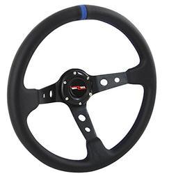 Rxmotor Drifting Deep Dish 350mm 6 Hole Sport Steering Wheel