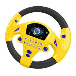 Electric Steering Wheel Pretend Toy Developing Light Steerin