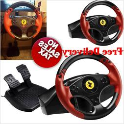 Ferrari Racing games steering Wheel Red PC PS3 PlayStation 3