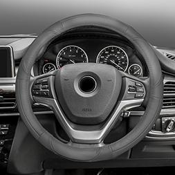 FH Group FH2002SOLIDGRAY Steering Wheel Cover