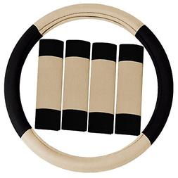 fh2033beige steering wheel cover modernistic and seat
