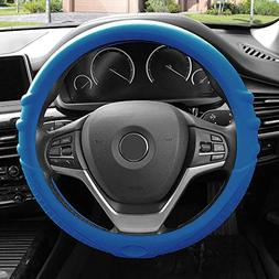 FH Group FH3003DARKBLUE Dark Blue Steering Wheel Cover