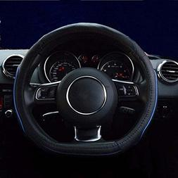 Flat Bottom Steering Wheel Cover - Genuine Leather D Cut Sha
