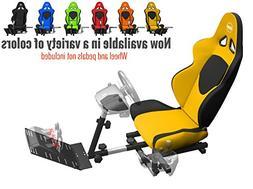 Openwheeler GEN2 Racing Wheel Stand Cockpit Yellow on Black