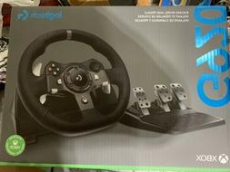 Logitech G920  Wheel , And Pedal, Shifter On The Steering Wh