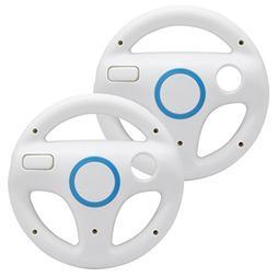 AZFUNN Mario Kart Steering Wheels, 2pcs White Racing Wheel w