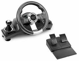 Gaming Racing Steering Wheel Shifter Pedal Set Playstation P
