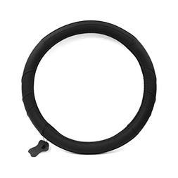 uxcell Genuine Leather Steering Wheel Cover, Universal 14.5-