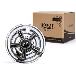 10L0L Golf Cart SS Wheel Covers Hub Caps for Yamaha/Club CAR