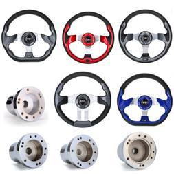 Golf Cart Steering Wheel / Chrome Adapter For EZGO Club Car