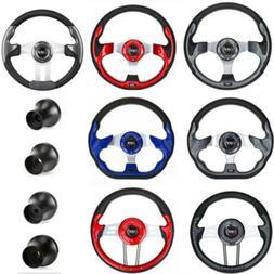 Golf Cart Steering Wheel or Black Adapter For EZGO Club Car
