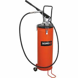 GROZ Bucket Grease Pump - 20 Kgs./44 Lbs., With Wheels, Mode