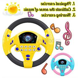 Kids Copilot Simulated Steering Wheel Toy Racing Driver Educ