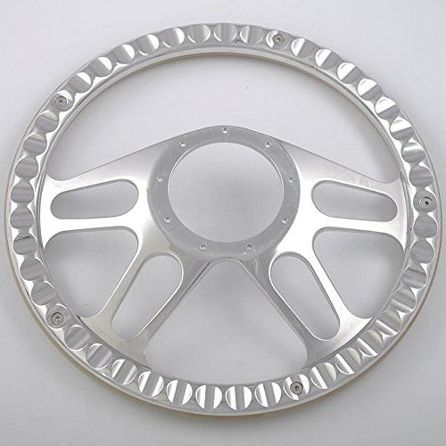 Flashpower 14'' Billet 4-slot Half Steering Wheel 2'' Dish and
