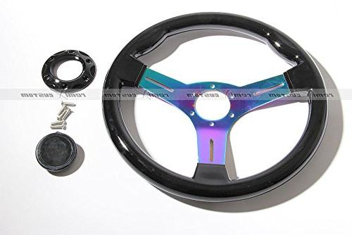 1989 Nissan 240SX S13 S14 Black Wood Titanium Wheel with