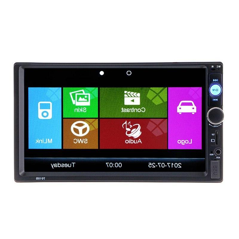 2 din7 car multimedia video player bluetooth