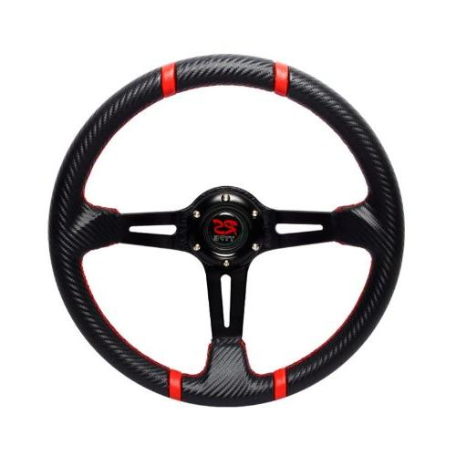 350mm rs type black carbon style steering