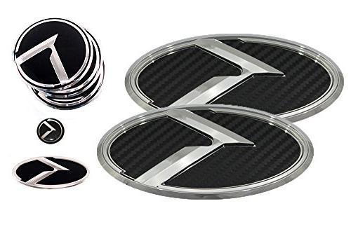 3d k logo emblem carbon fiber