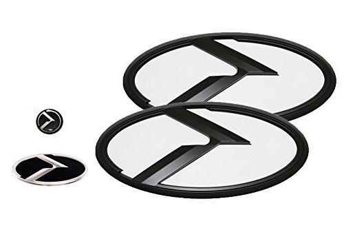 3d k logo emblem white and black