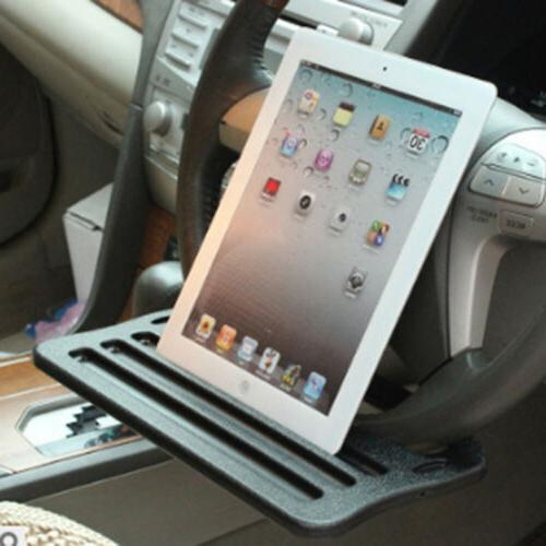 Car iPad Support Clip Steering Wheel Tray Drink Holder Silve