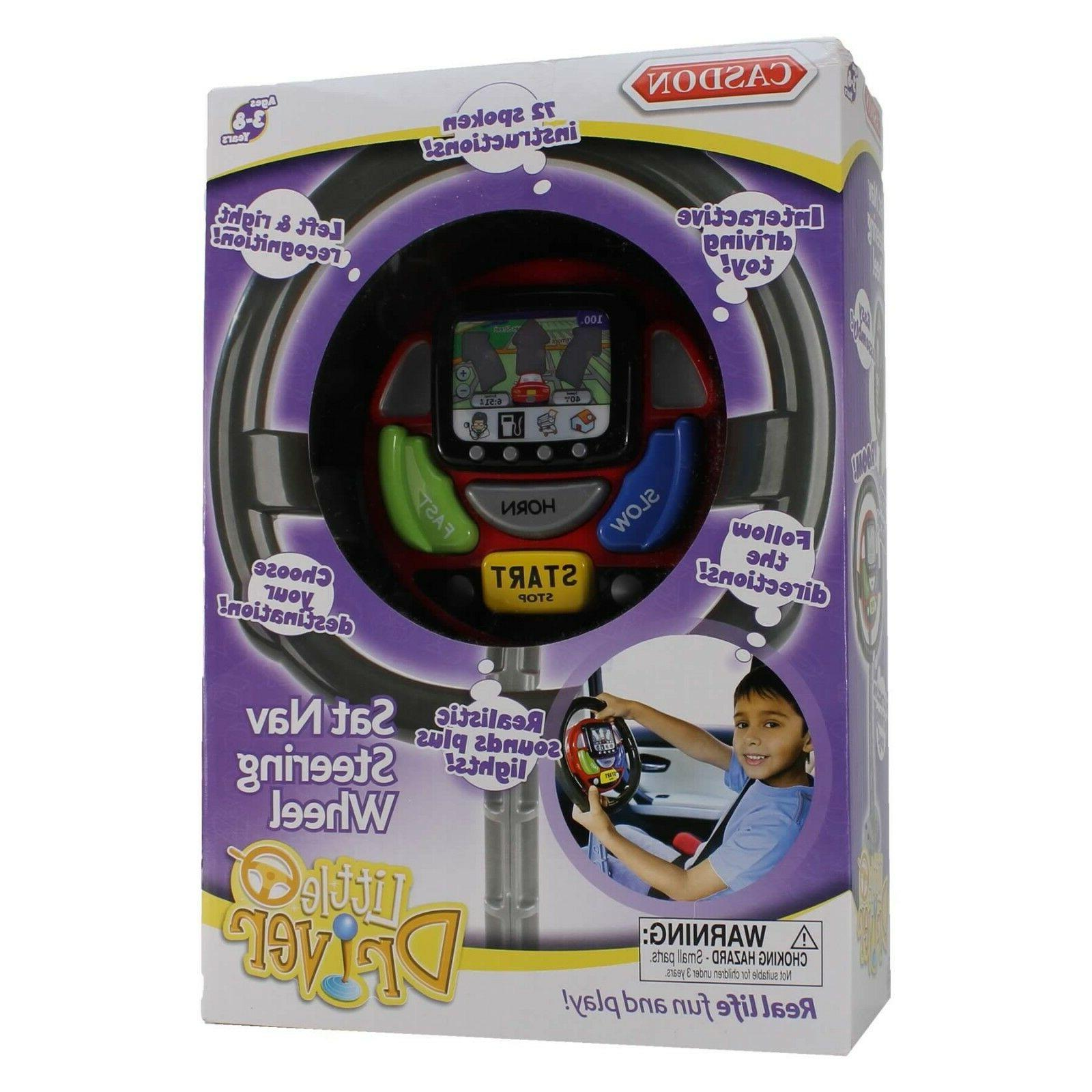 Casdon Car Sat Nav Steering Wheel Toy Little Driver With Sou