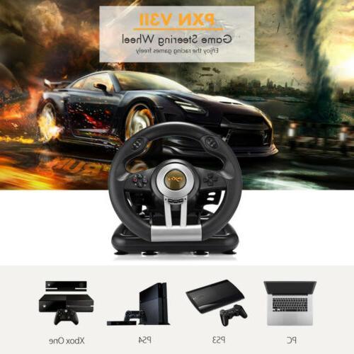 Driving Racing Game Controller Steering Wheel Brake Pedal F/