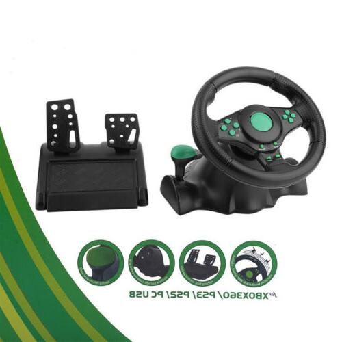 Driving Racing Gaming Control Steering Wheel Pedal PC for xb