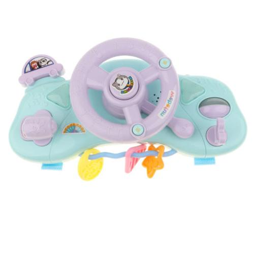 Kids Steering Wheel w/ Songs & Light Music Toys Driver Prete