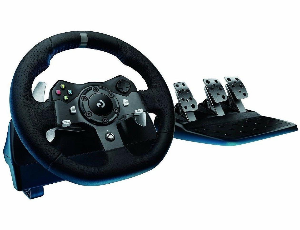 logitech g920 driving force racing steering wheel. Black Bedroom Furniture Sets. Home Design Ideas