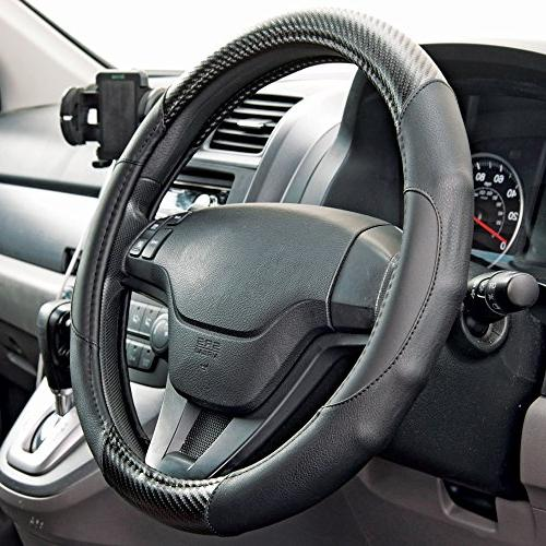 Motor Fiber Series Wheel Cover - Synthetic Leather Comfort Grip