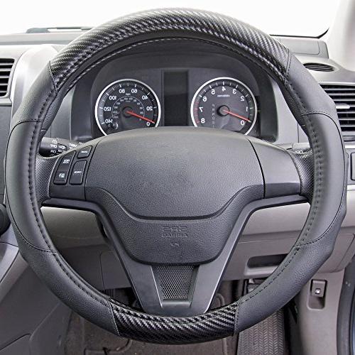 Motor Trend GripDrive Fiber - Wheel - Synthetic Leather Grip Handles