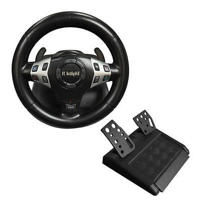 New 3 in 1 Vibration Rumble Gaming Racing Steering Wheel Ped