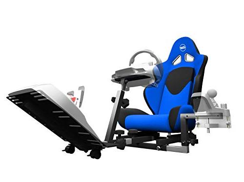 fa8aa9be468 Openwheeler Racing Stand Cockpit Blue on Black   Fits Logitech G29    Thrustmaster   All