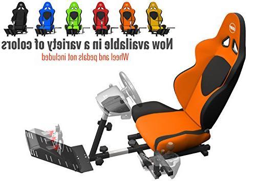 Openwheeler GEN2 Racing Wheel Stand Cockpit Orange on Black