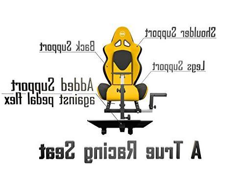Openwheeler GEN2 Wheel Stand Yellow on Black Fits Logitech G29 | G920 | Thrustmaster All Wheels