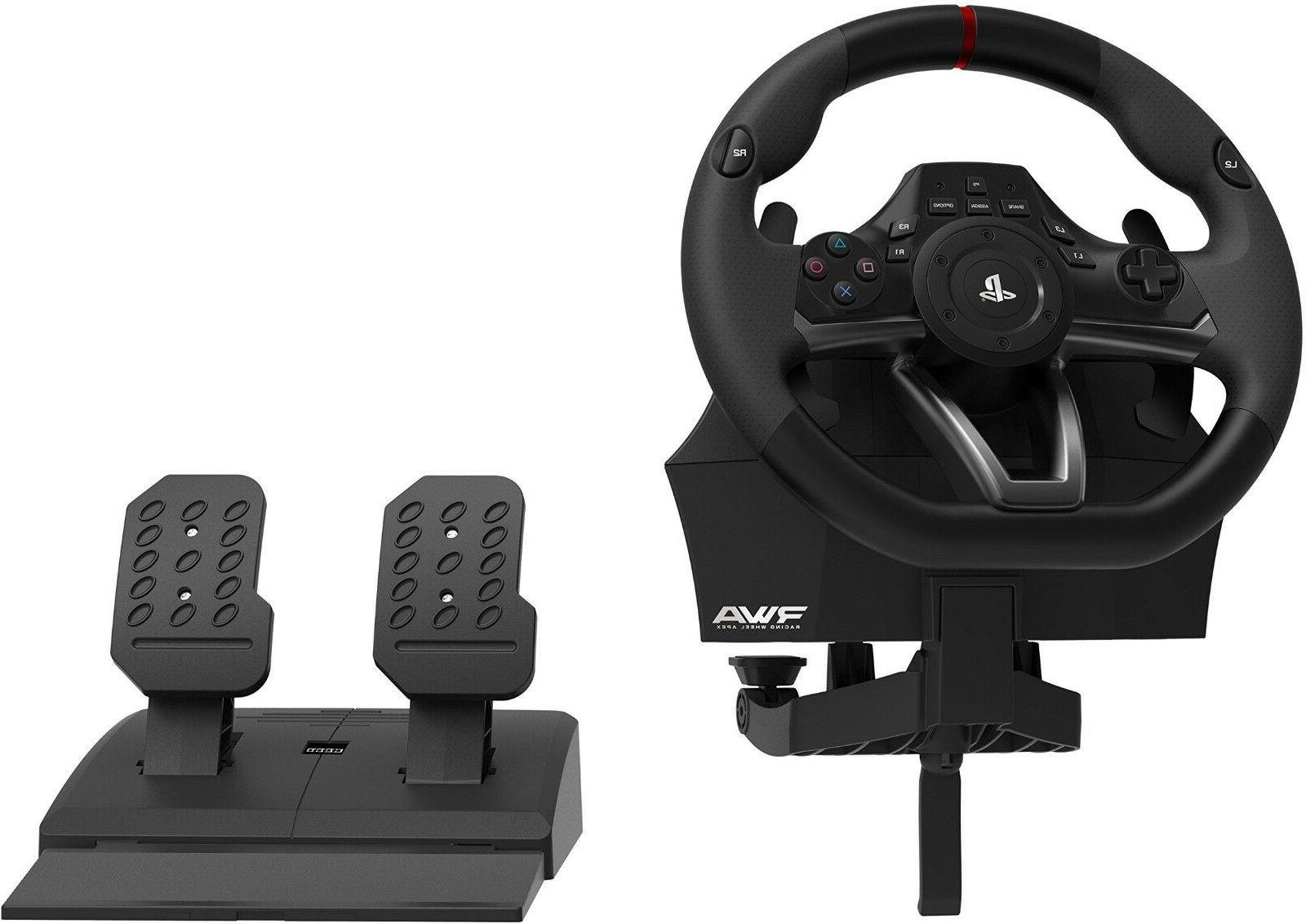 PS4 Racing Steering Wheel Controller Pedals Driving Official