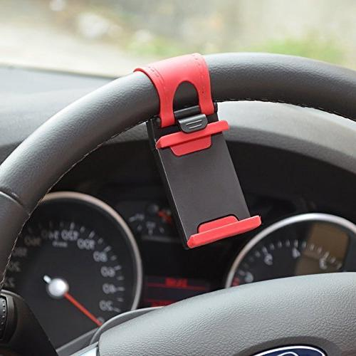 Rienar Mobile Phone Mount Hands Free Steering Wheel iPhone 5/5G/ 4/4S,HTC, Samsung Galaxy, PDA and Cellphones