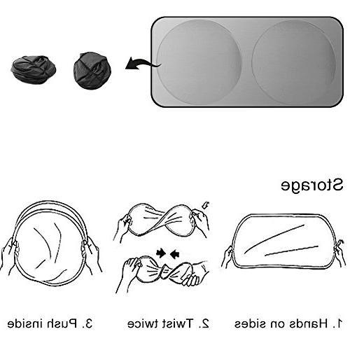 SEG Direct Car Windshield Sunshade Side Windows//Rear Window Sunshade Pack of 6