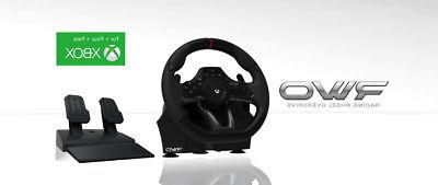 XBox One Racing Steering Wheel Controller Pedals Driving Off