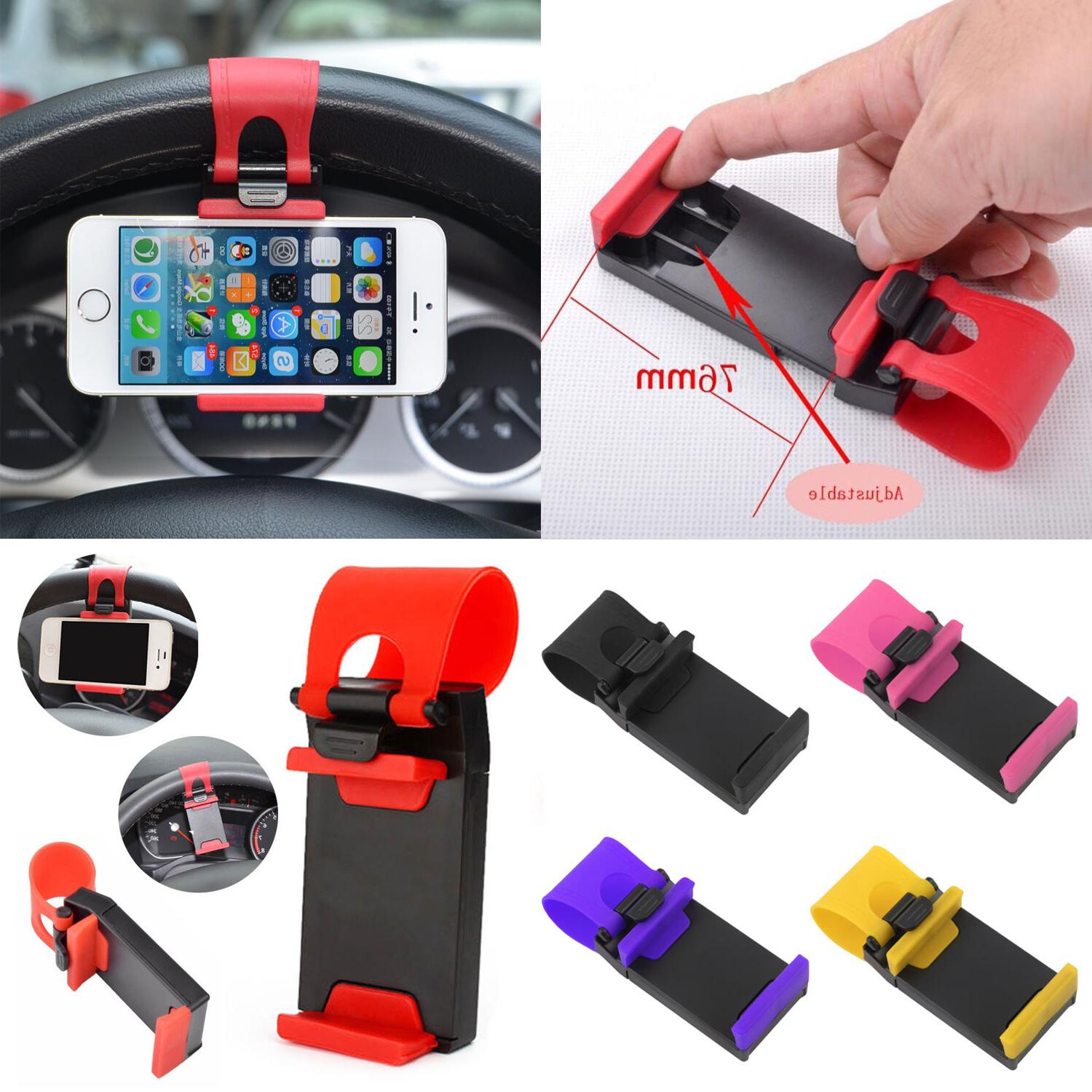 For All Smart Mobiles Universal Cradle Clip Car Steering Whe
