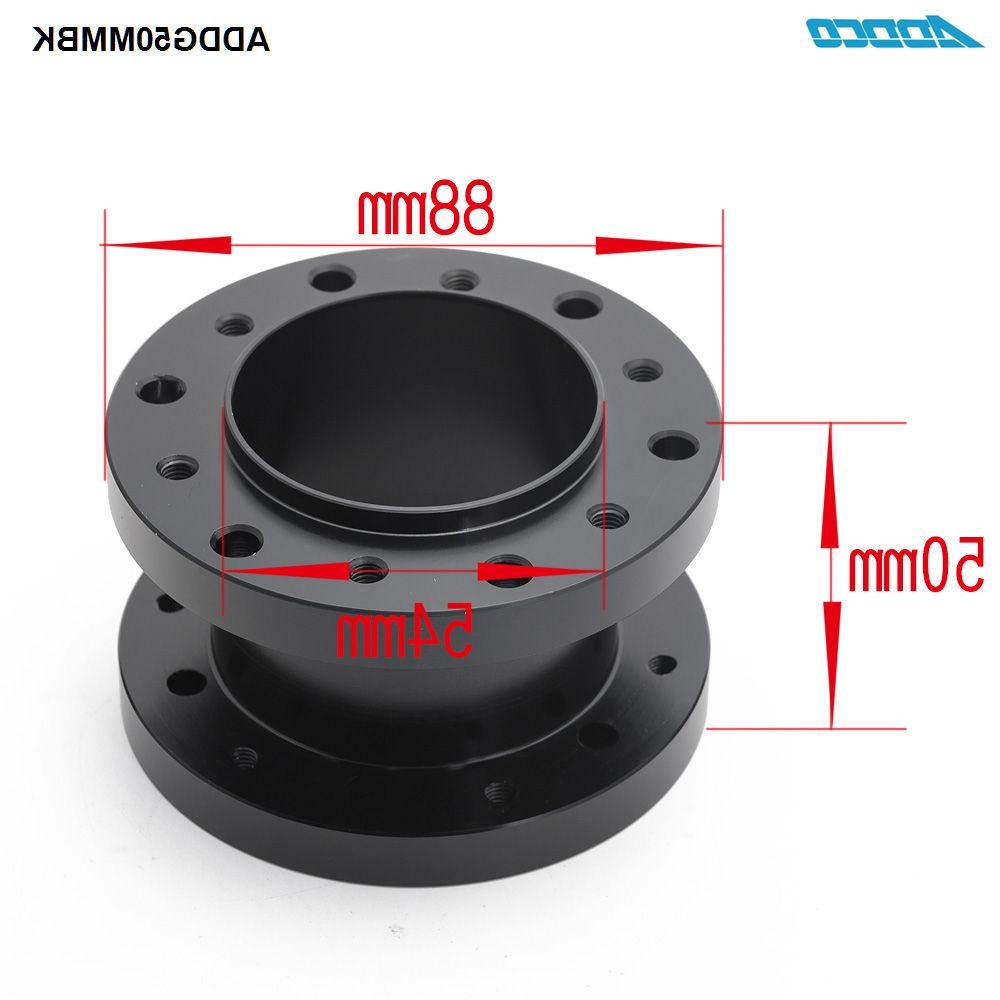 ADDCO Aluminum 50mm Height Car <font><b>Steering</b></font> ADDG50MMBK