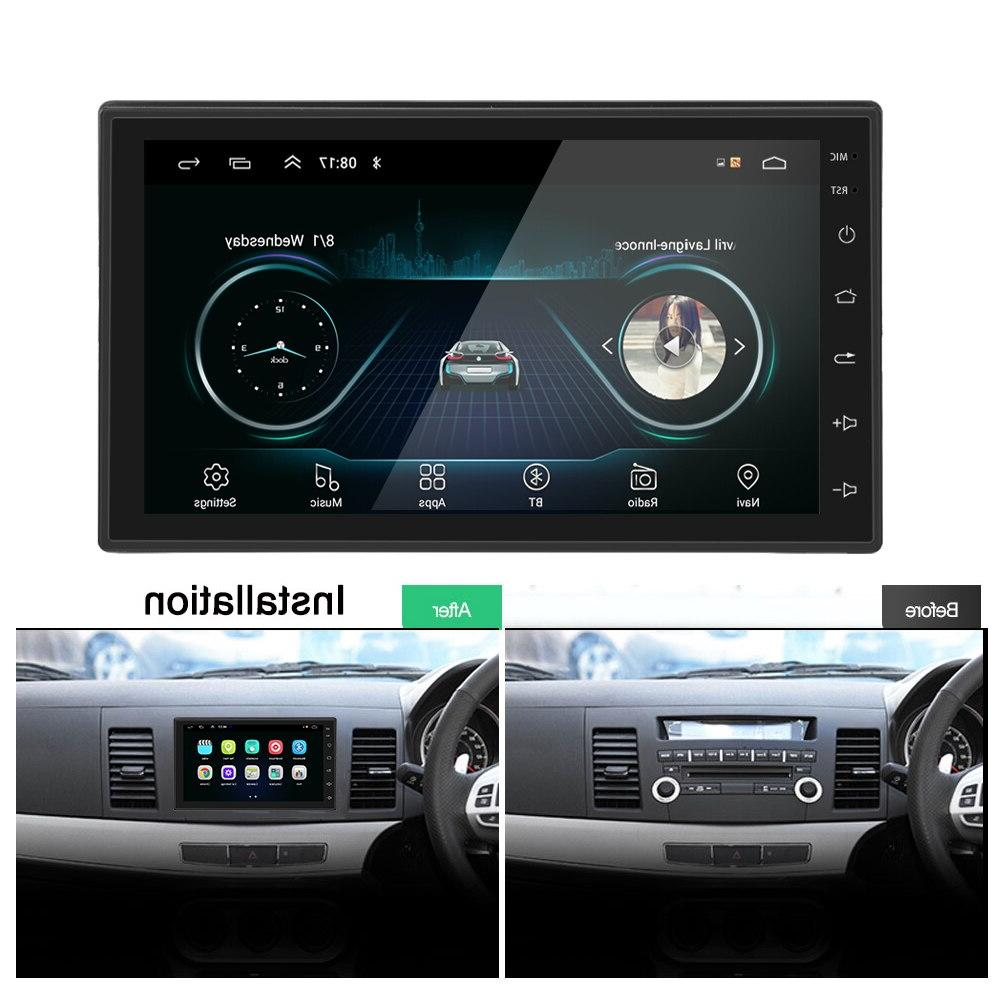 """Podofo Android Din Car Multimedia Player GPS din 7"""" Universal auto Stereo WiFI Bluetooth USB"""