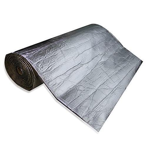 """shinehome Heat Deadener Deadening Mat Insulation and Dampening Mat Mat 72"""" 6mm/236mil"""