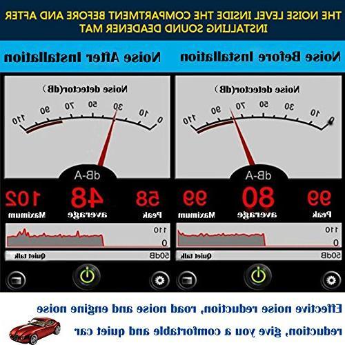 shinehome Heat Sound Deadener Mat Noise and Dampening Mat Proof Mat 6mm/236mil