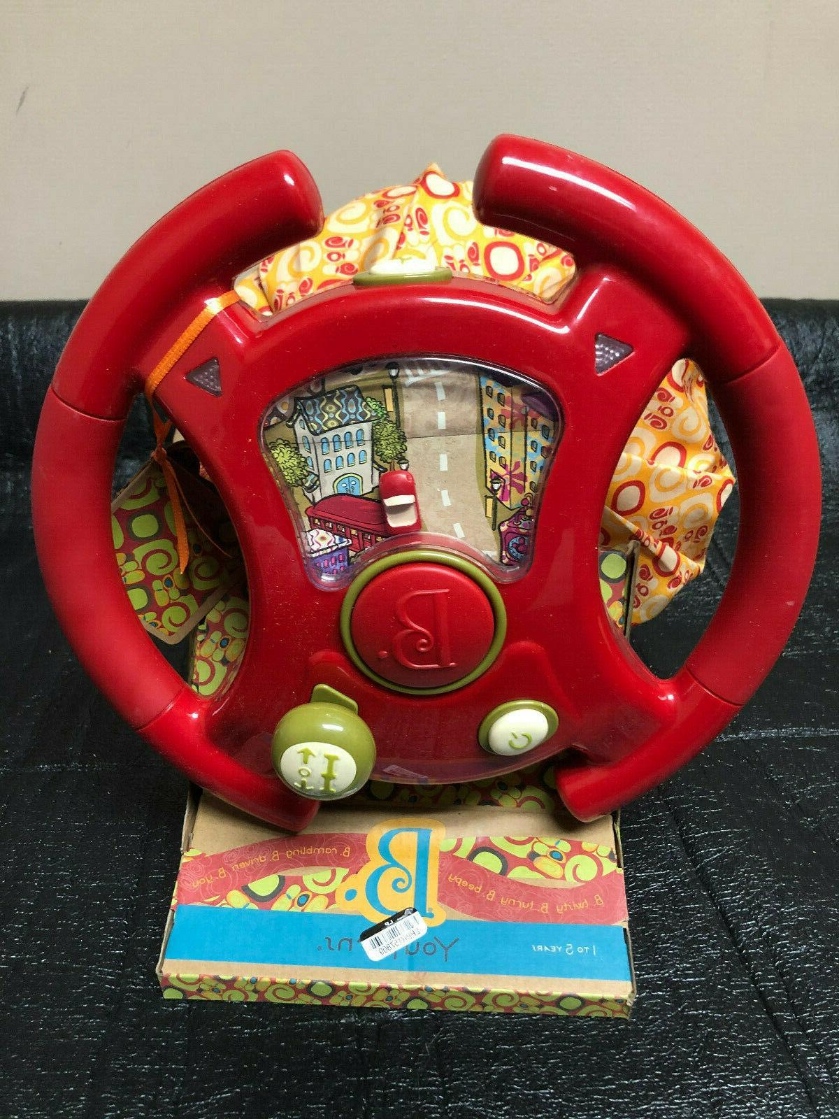 b toys youturns steering wheel led lights