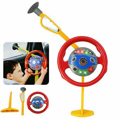 Baby Kids Steering Wheel Toy Music Sounds Pretend Play Color