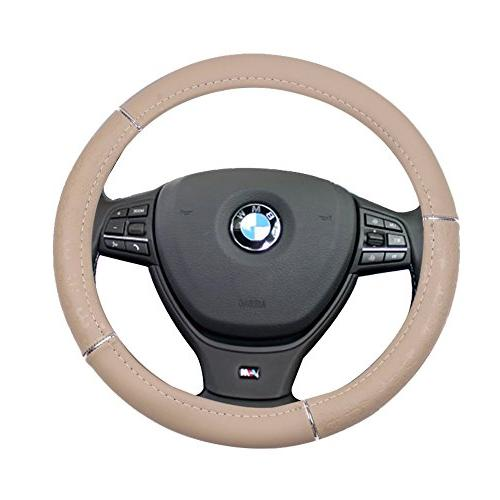 beige universal 15 inch steering wheel cover