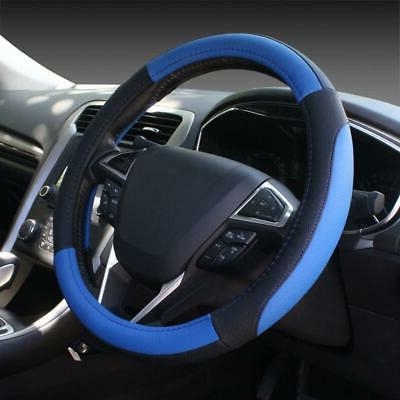 black and blue microfiber leather auto car